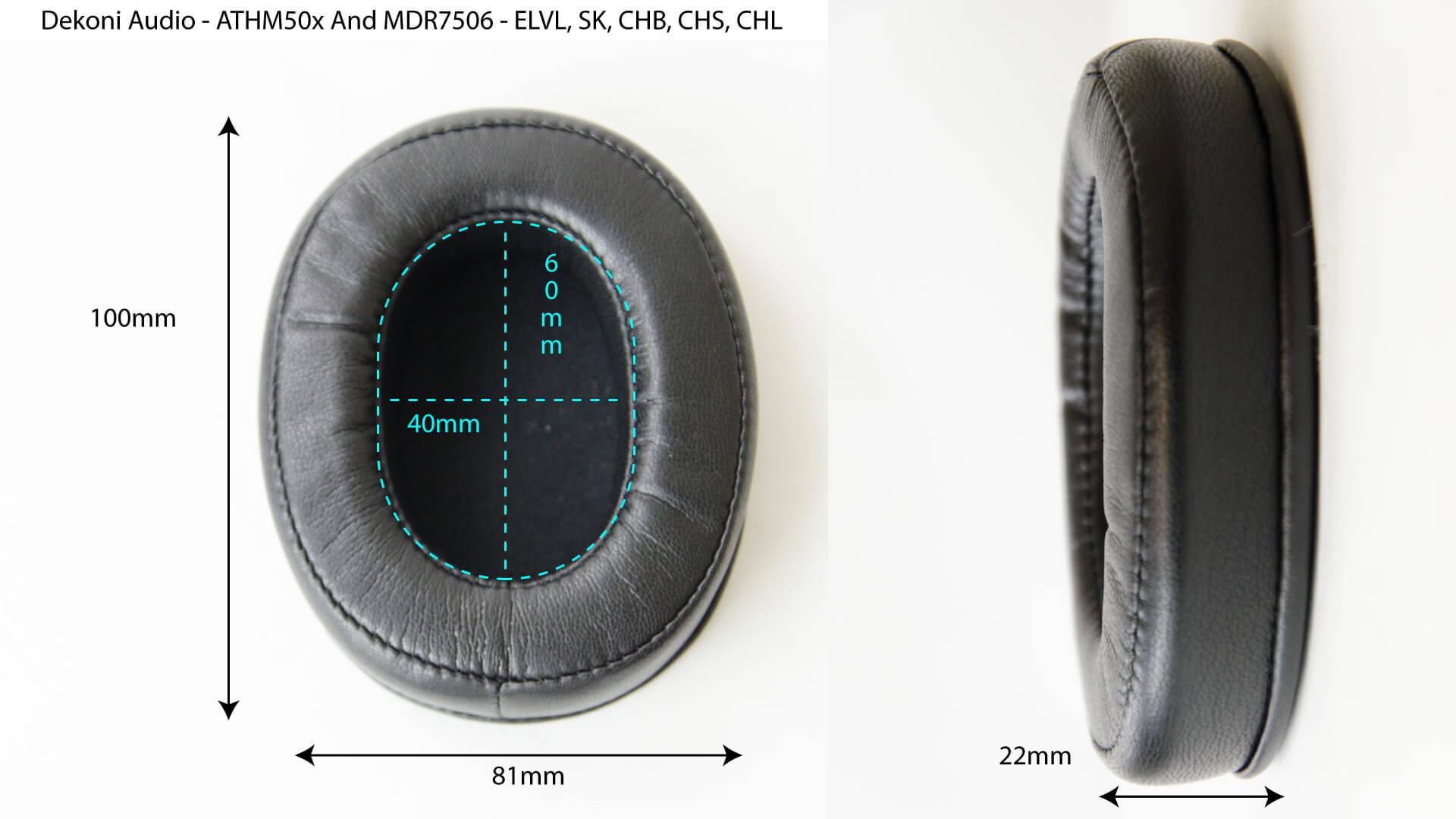 ATHM50x Dimensions